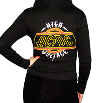 Buy Girl Zip Hoodie - High Voltage by Ac/dc