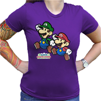 Buy Mario And Luigi Jumping Purple by Mario Bros