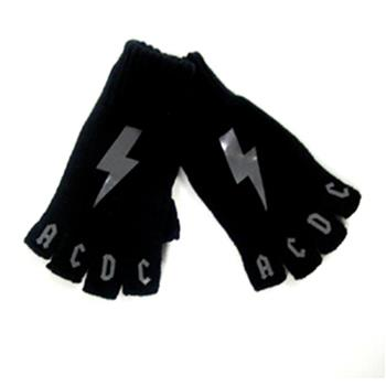 Buy Fingerless Gloves - Gray Bolts by Ac/dc