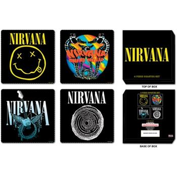 Buy 4 Pcs Coaster Set With Steel Box by Nirvana
