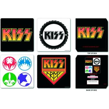 Buy 4 Pcs Coaster Set With Steel Box by Kiss