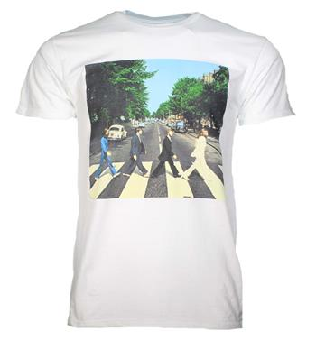 Buy Beatles Abbey Road Walk White T-Shirt by Beatles