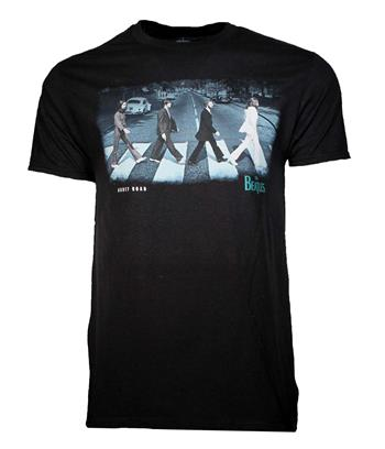Buy Beatles Abbey Stride Black T-Shirt by Beatles
