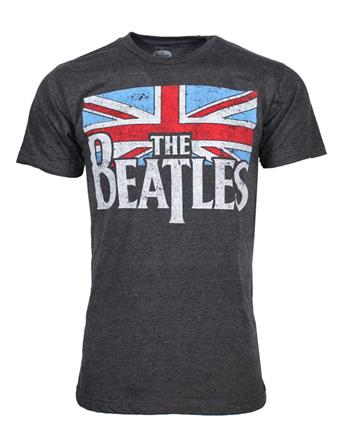 Buy Beatles Distressed British Flag T-Shirt by Beatles