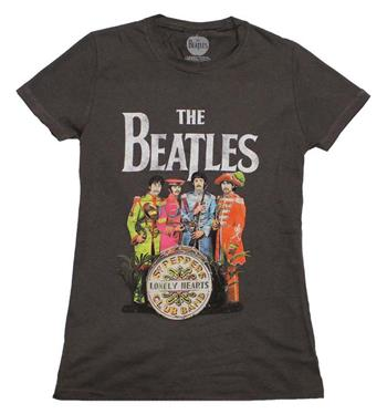 Buy Beatles SGT Peppers Charcoal Juniors T-Shirt by Beatles