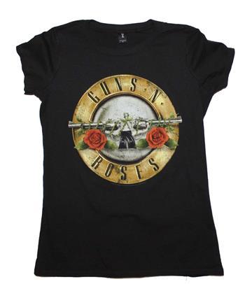 Buy Guns n Roses Distressed Bullet Juniors T-Shirt by Guns 'n' Roses