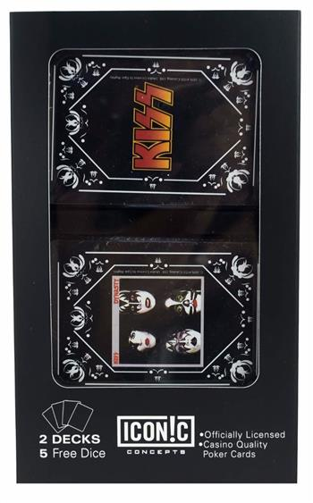 Buy KISS Dual Pack Playing Cards and Dice (2 Pack) by Kiss