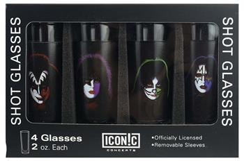 Buy KISS Faces Shot Glass Set (4 Pack) by Kiss