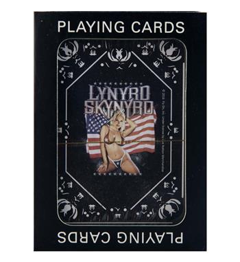 Buy Lynyrd Skynyrd Girl with Flag Playing Cards by Lynyrd Skynyrd