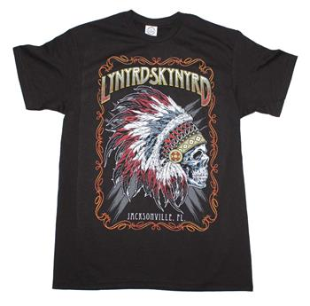 Buy Lynyrd Skynyrd Indian Skeleton T-Shirt by Lynyrd Skynyrd