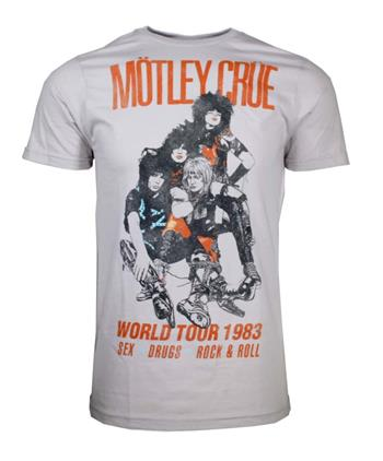 Buy Motley Crue Vintage-Inspired World Tour 1983 T-Shirt by Motley Crue