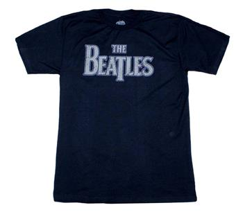 Buy The Beatles Vintage Logo Distressed T-Shirt by The Beatles