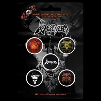 Buy Black Metal (Button Pin Set) by Venom