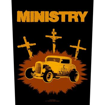 Ministry Jesus Built My Hotrod Backpatch