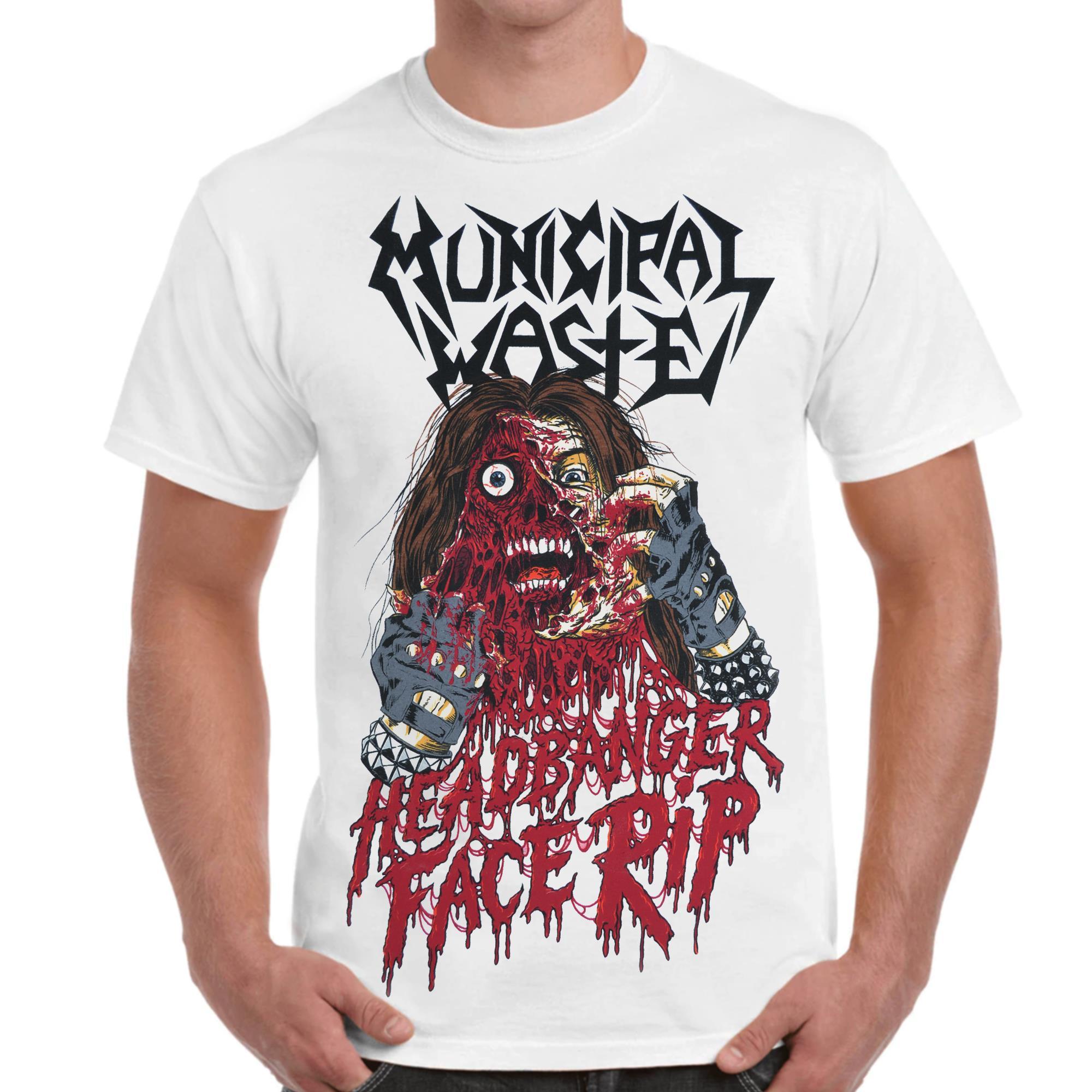 (White) Headbanger Face Rip
