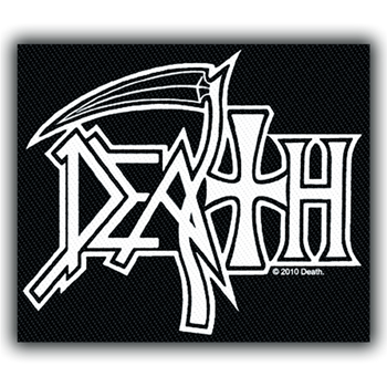 Death Silver Logo Patch