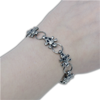 Buy Metal Skull Necklace by GENERIC