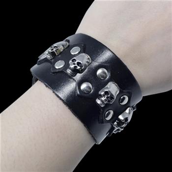 Buy Leather Bracelet Crossbones by GENERIC