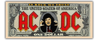 AC/DC Dollar Bill Patch