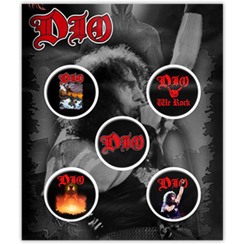 Buy Albums & Icons Button Pin Set by Dio