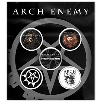 Arch Enemy Albums & Emblems Button Pin Set