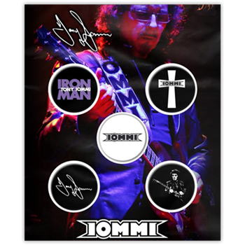 Black Sabbath / Tony Iommi Iron Man Button Pin Set