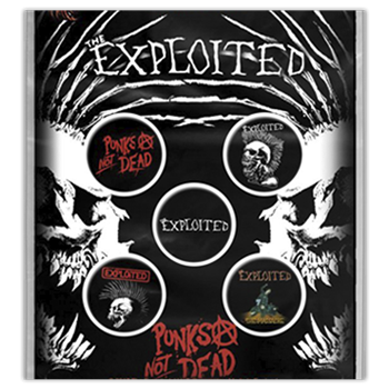 Exploited (the) Punk's Not Dead Button Pin Set