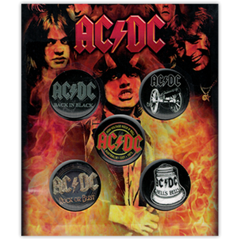 AC/DC Hell's Bells Button Pin Set