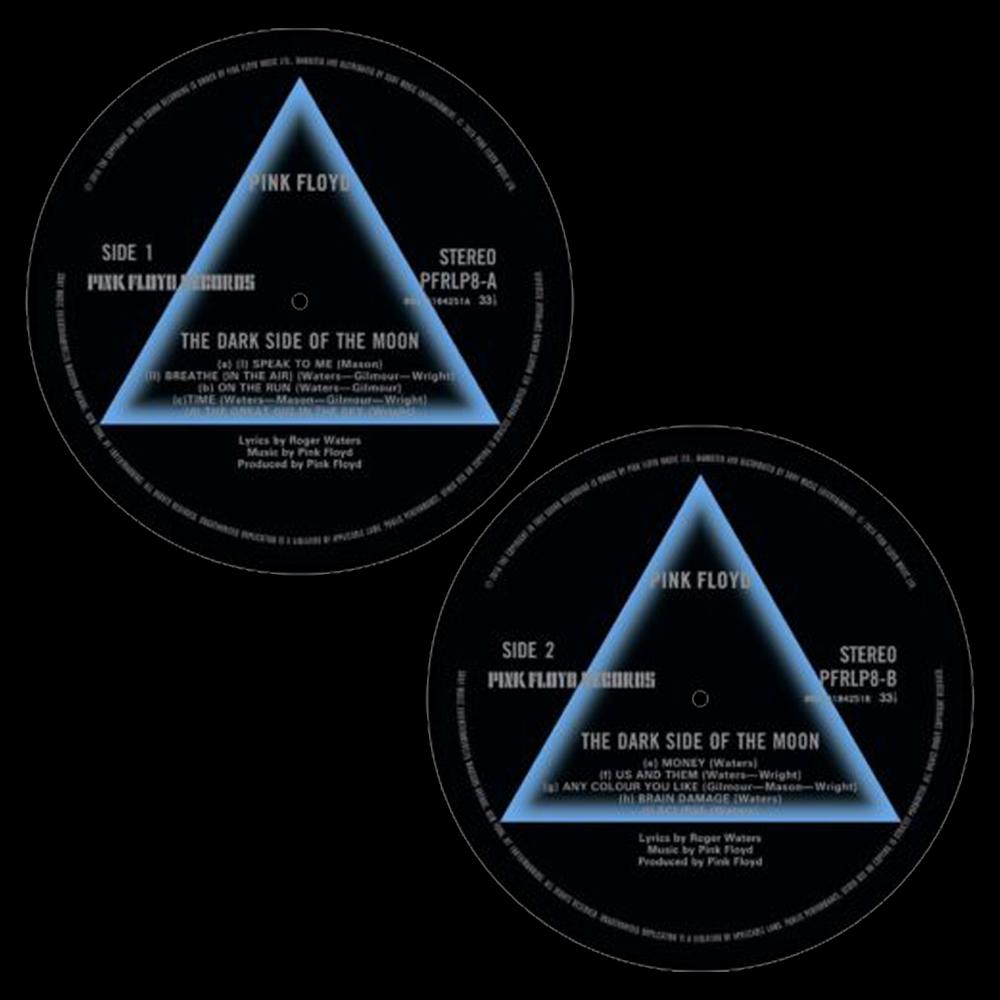 Dark Side Of The Moon Side 1 / Side 2 Slipmat Set