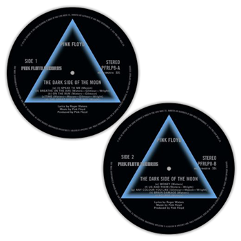 Buy Dark Side Of The Moon Side 1 / Side 2 Slipmat Set by Pink Floyd