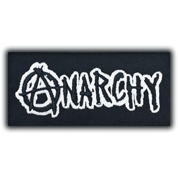 Anarchy White Name Rectangle Patch