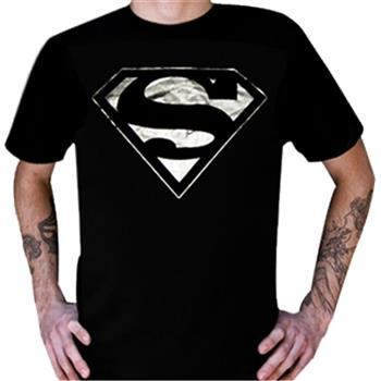 Buy Silver Metallic Logo T-Shirt by Superman