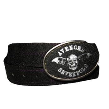 Buy Bat Purple Stitches Leather Belt With Buckle by Avenged Sevenfold