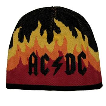 Buy Beanie - Flames HTH Jacquard by AC/DC