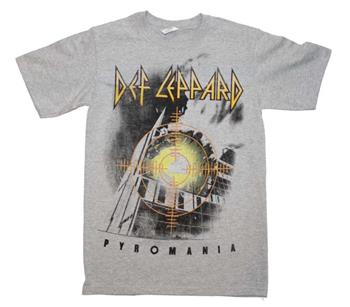 Buy Def Leppard Target Pyromania Heather Gray T-Shirt by Def Lepaprd