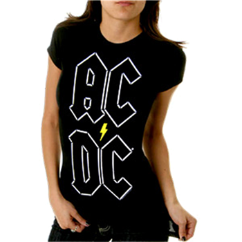 AC/DC Stacked Letters T-Shirt