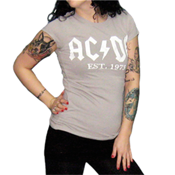 AC/DC EST 1973 Logo Girls Tour T-Shirt