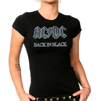 AC/DC Back In Black Gray Logo T-Shirt