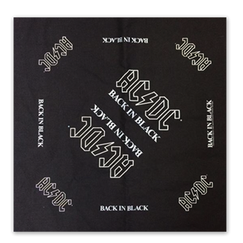 AC/DC Back In Black Bandana