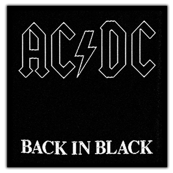 Buy Back In Black Patch by AC/DC