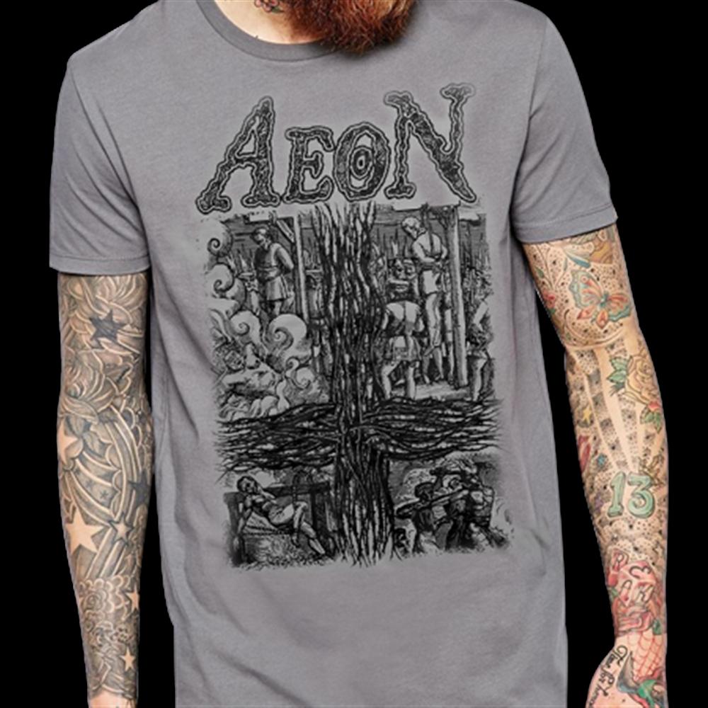 AEON Rise To Dominate Death Metal Band Logo Men/'s Black T-Shirt Size S-3XL