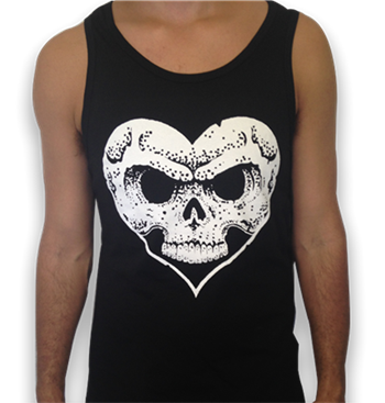 Buy Heart & Skull Logo Tank Top by Alexisonfire