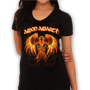Buy Burning Eagle V-Neck Shirt by Amon Amarth