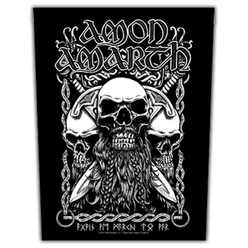 Amon Amarth Viking Skulls Backpatch