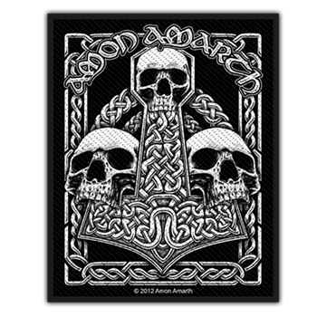 Amon Amarth Mjolnir & Skulls Backpatch