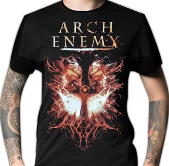 Buy Twin Skulls / 2010 Tour Dates T-Shirt by Arch Enemy