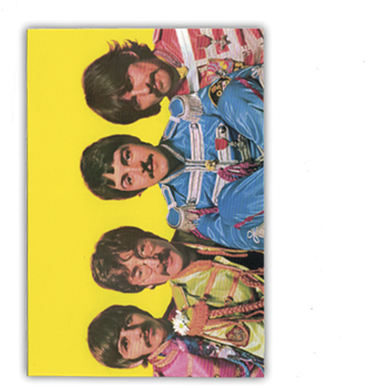 Beatles Sgt. Pepper Outfits Postcard