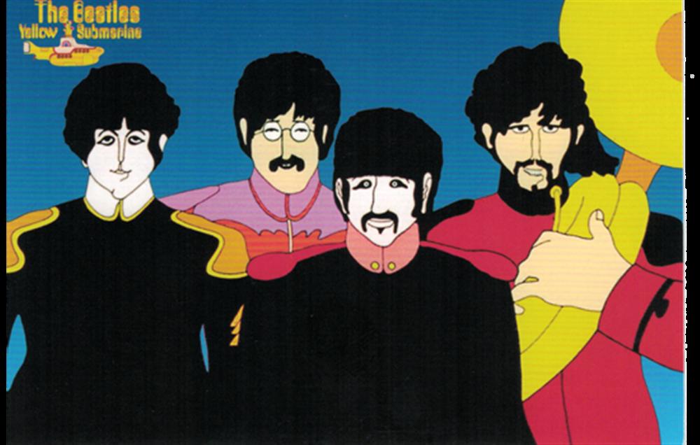 Sgt. Pepper Cartoon Postcard
