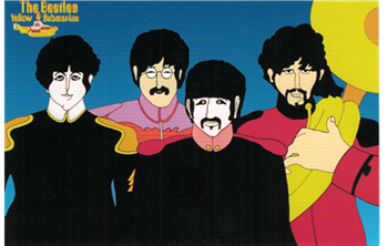 Beatles Sgt. Pepper Cartoon Postcard
