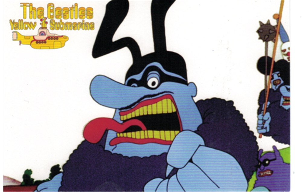 Blue Meanie Postcard